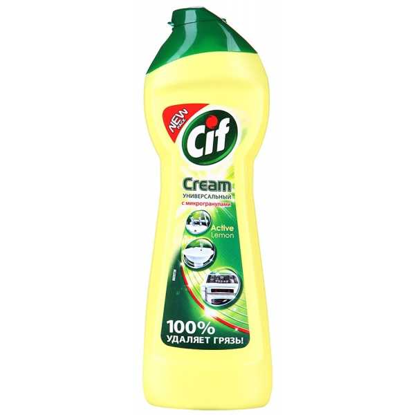 """Крем чистящий Cif Cream """"Active Lemon"""", 250 мл"""