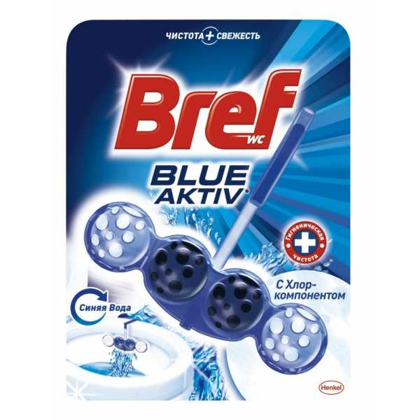 Чистящее средство для унитаза Bref Блю-Актив с хлор-компонентом, 50 гр