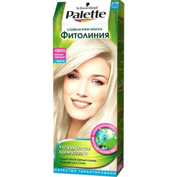 """Краска для волос Palette Фитолиния 219 """"Холодный блондин"""", 50 мл"""