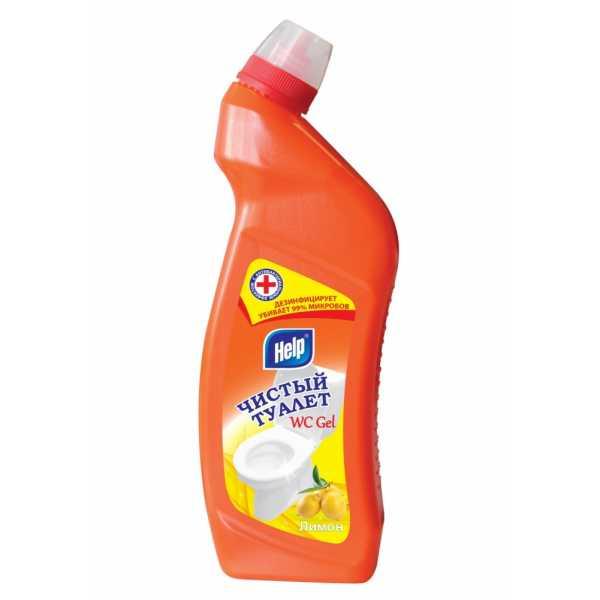 "Чистый туалет HELP гель ""Лимон"", 750 мл"