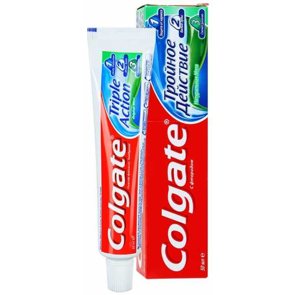 """Зубная паста Colgate """"Тройное действие"""", 50 мл"""