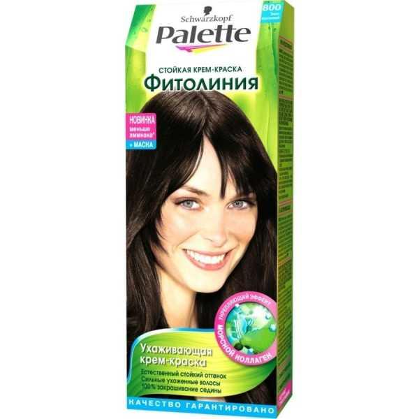 """Краска для волос Palette Фитолиния 800 """"Темно-каштановый"""", 50 мл"""