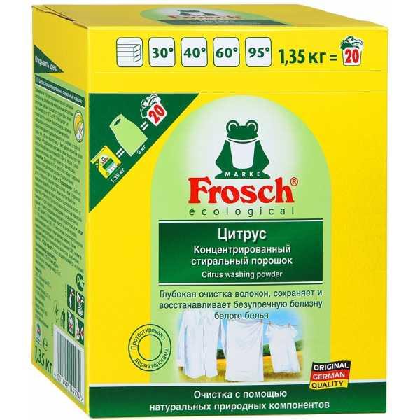 Концентрированный стиральный порошок Frosch с отбеливателем, 1,35 кг