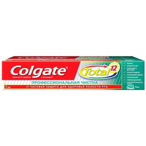 """Зубная паста Colgate Total 12 """"Профессиональная чистка"""", гель, 75 мл"""