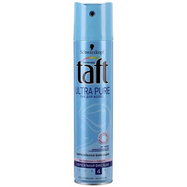 """Лак для волос Taft Ultra Pure """"Три погоды"""" сверхсильная фиксация, без отдушек и силикона, 225 мл"""