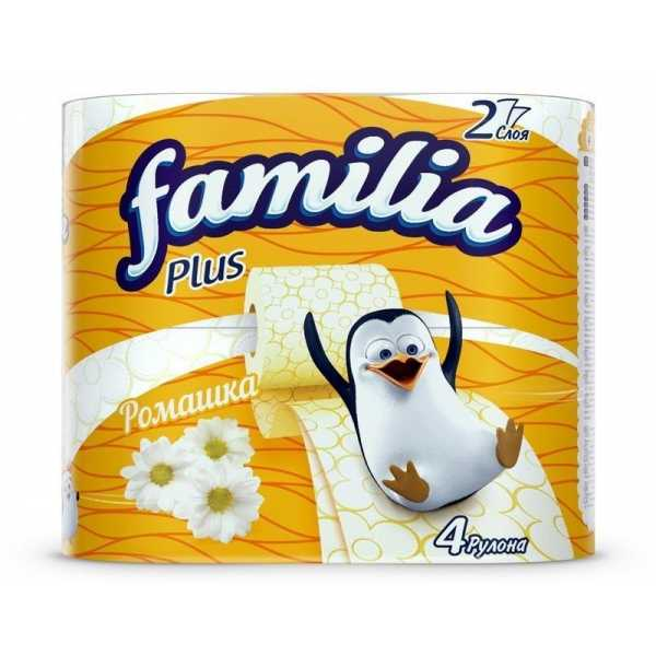 "Туалетная бумага Familia Plus ""Ромашка"", 2 слоя, 4 рулона"