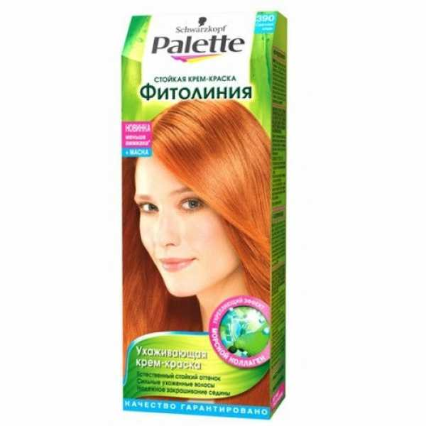 """Краска для волос Palette Фитолиния 390 """"Светлая медь"""", 50 мл"""