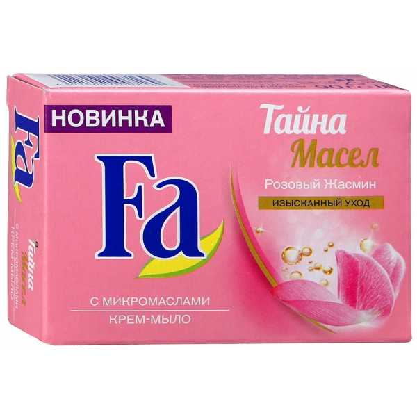 "Крем-мыло Fa Тайна масел ""Розовый Жасмин"", 90 гр"