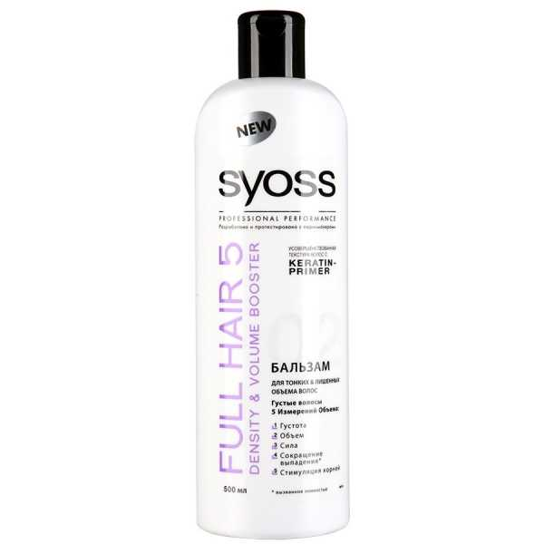 Бальзам Syoss Full Hair 5, Густота & Увеличение объема, 500 мл
