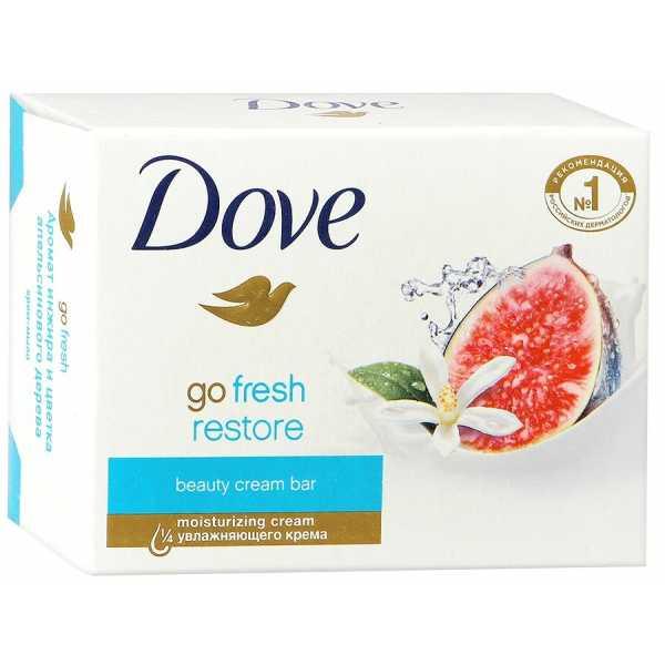 """Крем-мыло Dove """"Инжир и лепестки апельсина"""", 135 гр"""