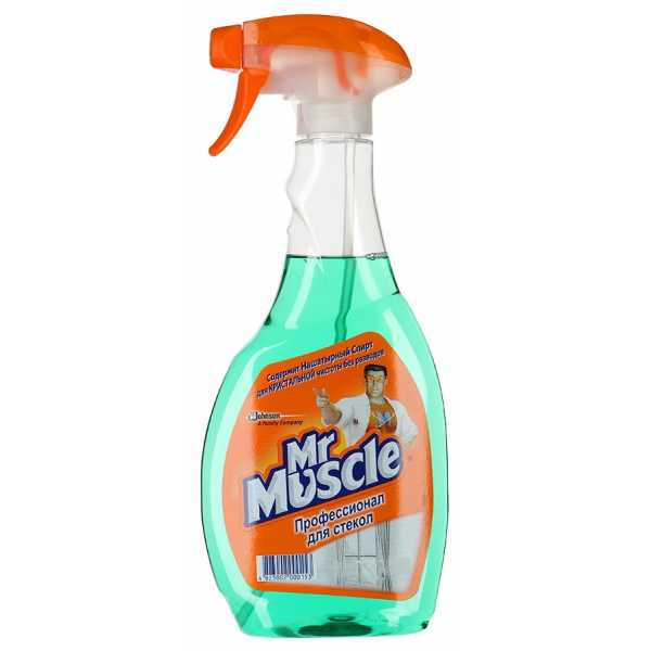 Средство Mr Muscle для стекол с нашатырным спиртом, спрей, 500 мл
