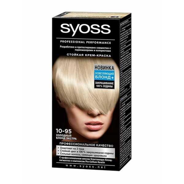 """Краска для волос Syoss Color 10-95 """"Холодный Блонд экстра"""", 115 мл"""