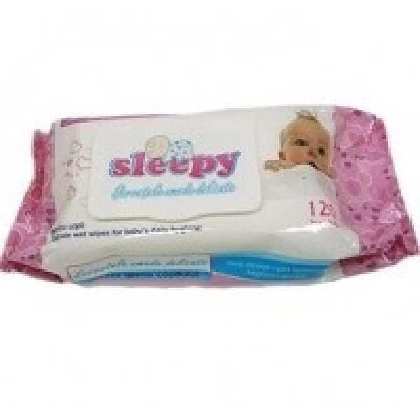 """Влажные салфетки Sleepy """"Sensitive"""" с пластиковым клапаном, 120 шт"""