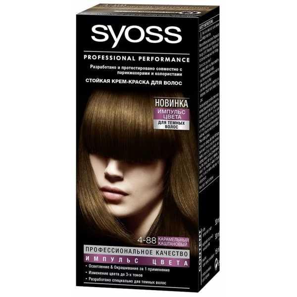 """Краска для волос Syoss Color 4-88 """"Карамельный каштановый"""", 115 мл"""