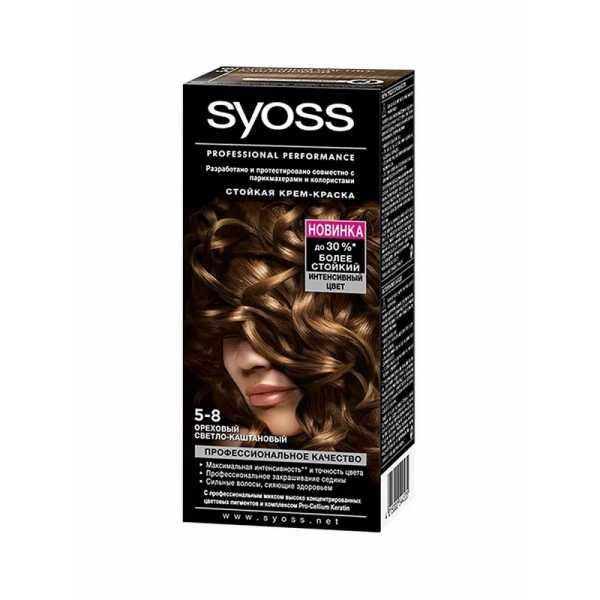 """Краска для волос Syoss Color 5-8 """"Ореховый светло-каштановый"""", 115 мл"""