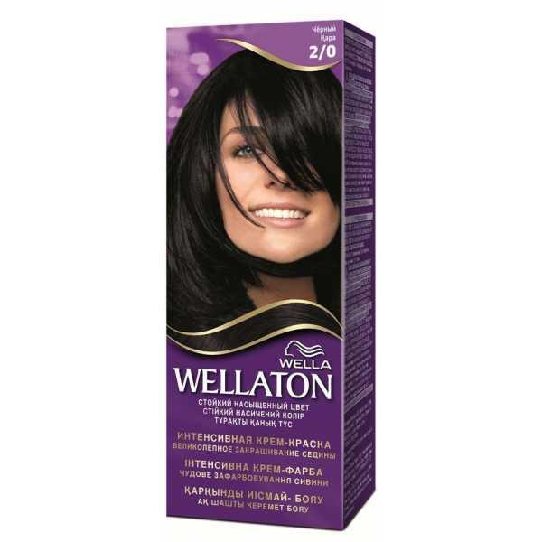 """Краска для волос Wellaton 2/0 """"Черный"""""""
