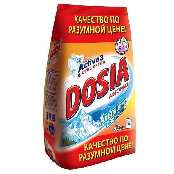 """Стиральный порошок Dosia """"Альпийская свежесть"""" автомат, 5,5 кг"""