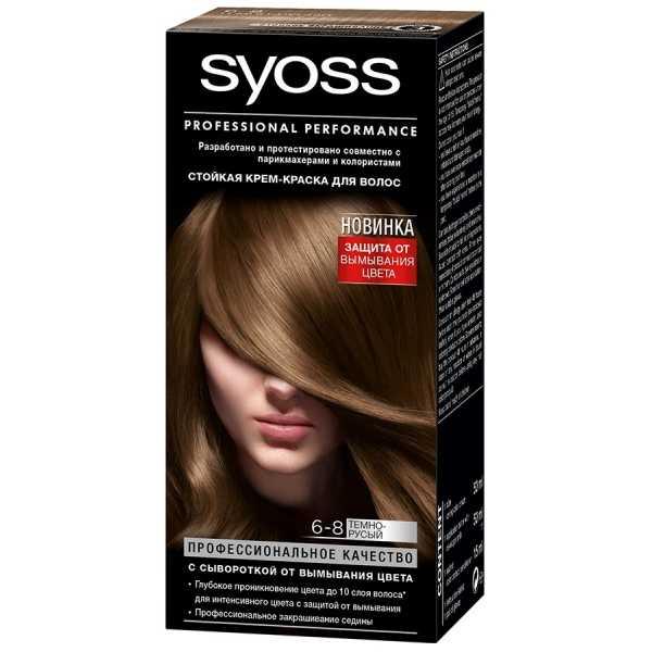 "Краска для волос Syoss Color 6-8 ""Темно-русый"", 115 мл"