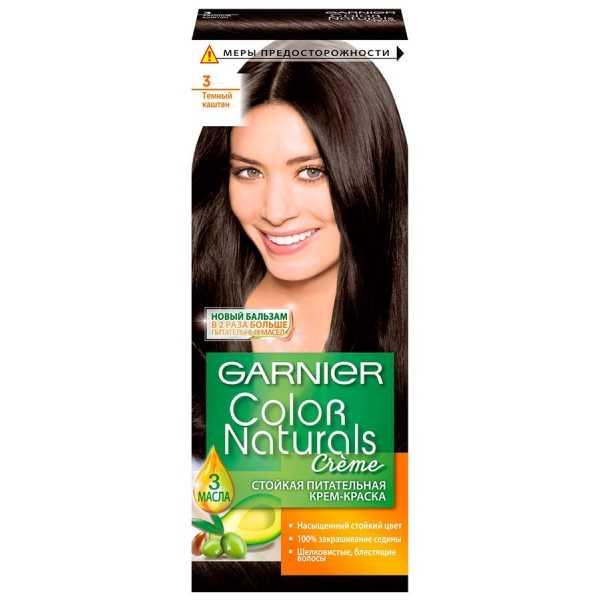 """Краска для волос Garnier Color Naturals 3 """"Темный каштан"""""""
