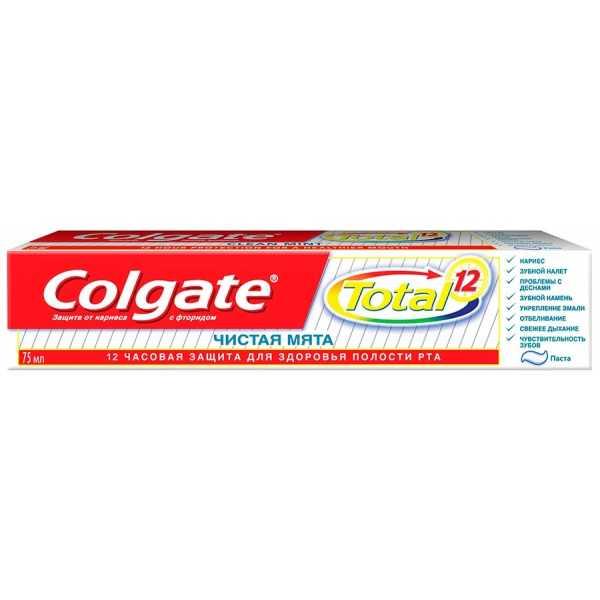 """Зубная паста Colgate Total 12 """"Чистая мята"""", 75 мл"""