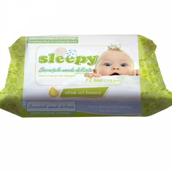"Влажные салфетки Sleepy ""Olive"", 72 шт"