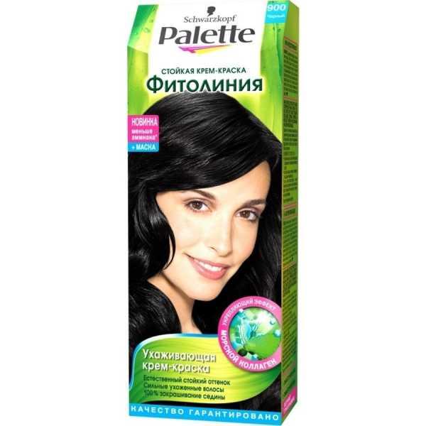 """Краска для волос Palette Фитолиния 900 """"Черный"""", 50 мл"""