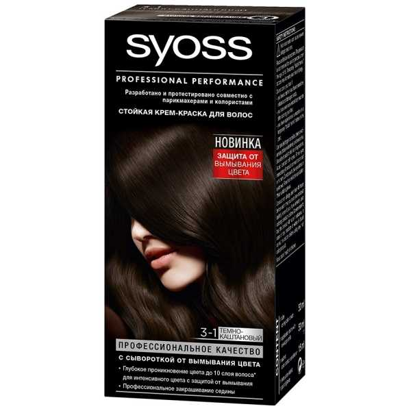 "Краска для волос Syoss Color 3-1 ""Темно-каштановый"", 115 мл"