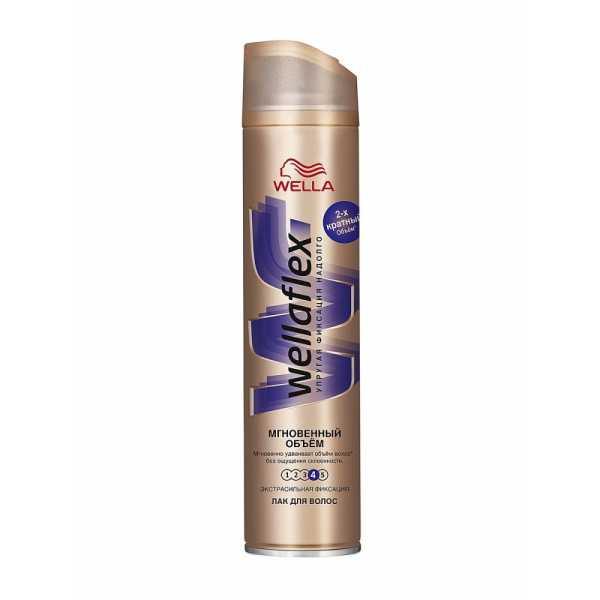Лак для волос Wellaflex, Мгновенный Объем, 250 мл