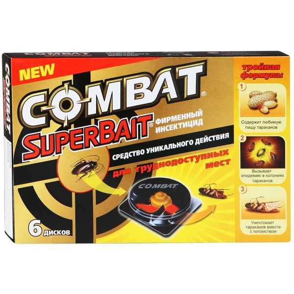 Ловушка Combat Super Bait инсектицид для борьбы с тараканами, 6 дисков