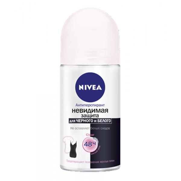 """Антиперспирант Nivea """"Невидимая защита для черного и белого Clear"""", шариковый, 50 мл"""