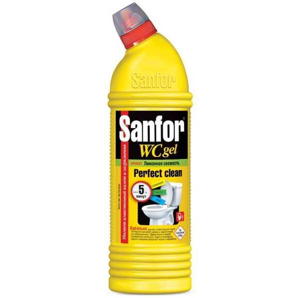"""Гель Sanfor WC """"Лимонная свежесть"""", 750 мл"""