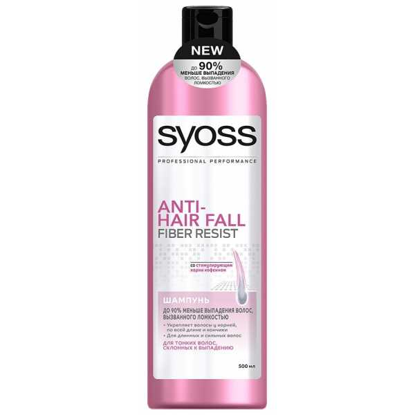 Шампунь Syoss Anti-hair fall для тонких волос склонных к выпадению, 500 мл