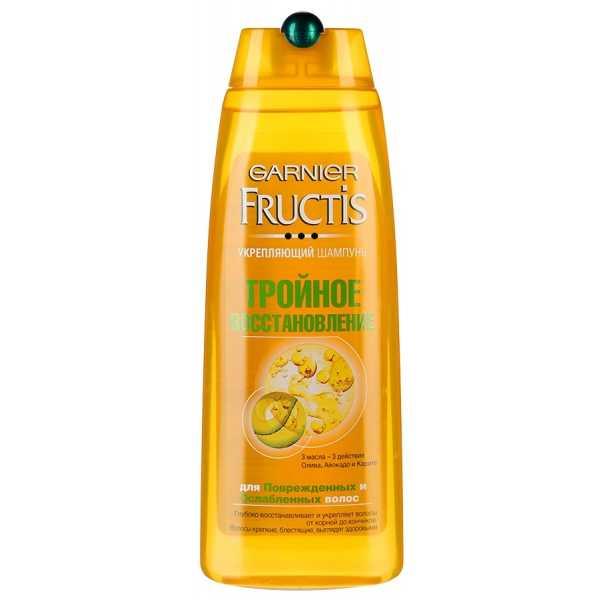 """Шампунь Garnier Fructis """"Тройное восстановление"""" укрепляющий для поврежденных и ослабленных волос, 250 мл"""