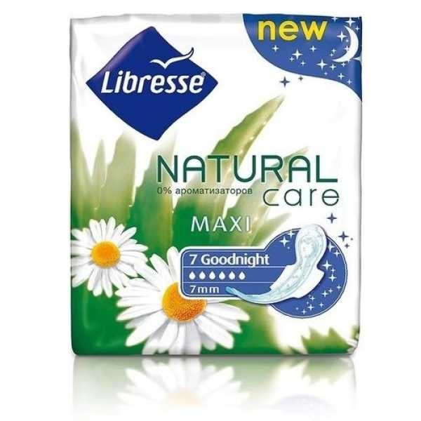 Прокладки Libresse Natural Maxi Goodnight, 7 шт
