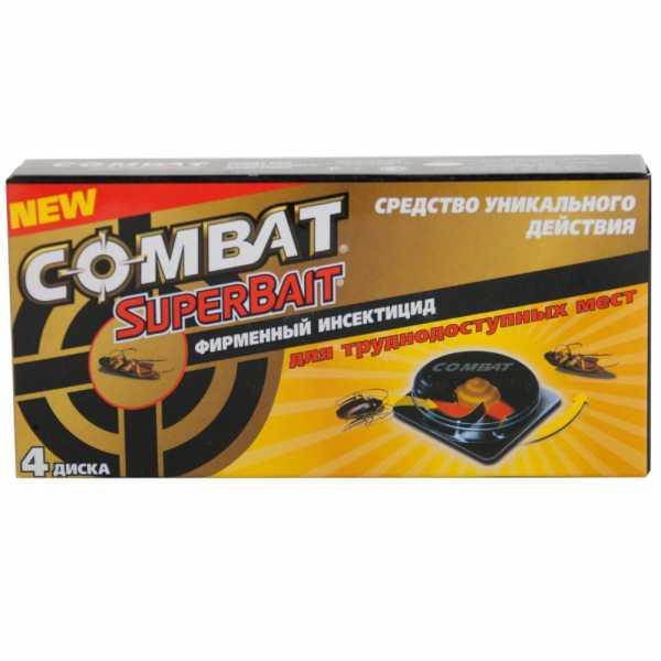 Ловушка Combat SuperBait инсектицид для борьбы с тараканами, 4 диска