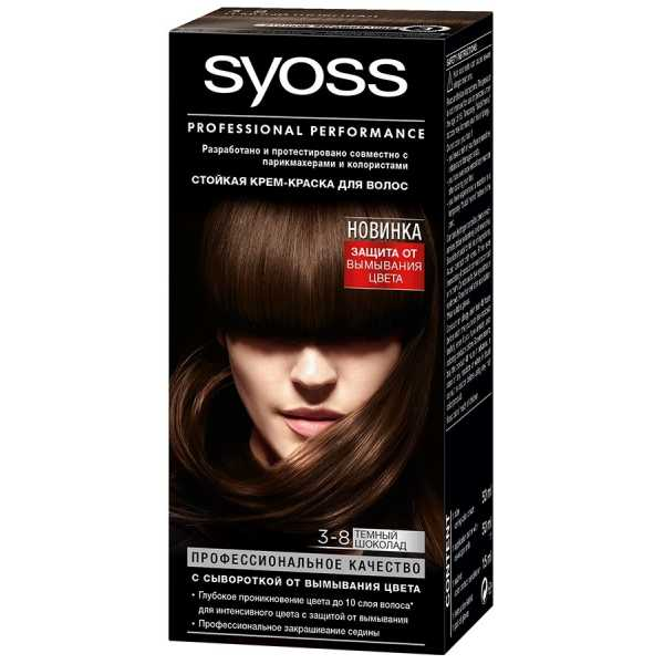 "Краска для волос Syoss Color 3-8 ""Темный шоколад"", 115 мл"