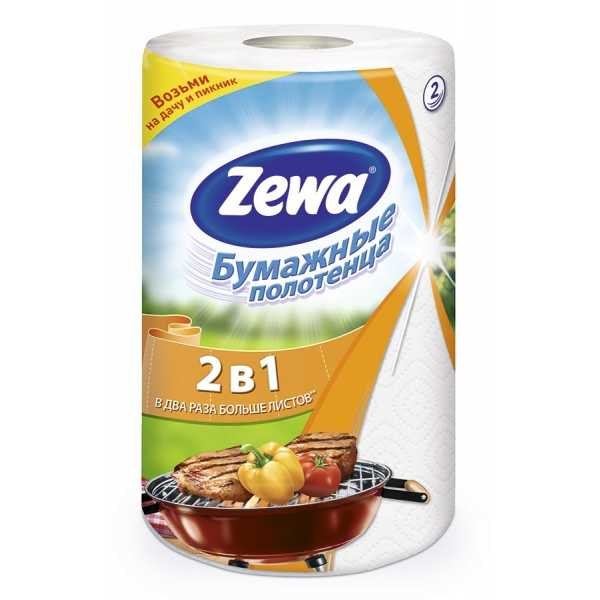 """Полотенца бумажные Zewa """"2в1"""" 1 рулон"""