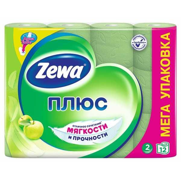 "Туалетная бумага Zewa Плюс ""Яблоко"", 2 слоя 12 рулонов"
