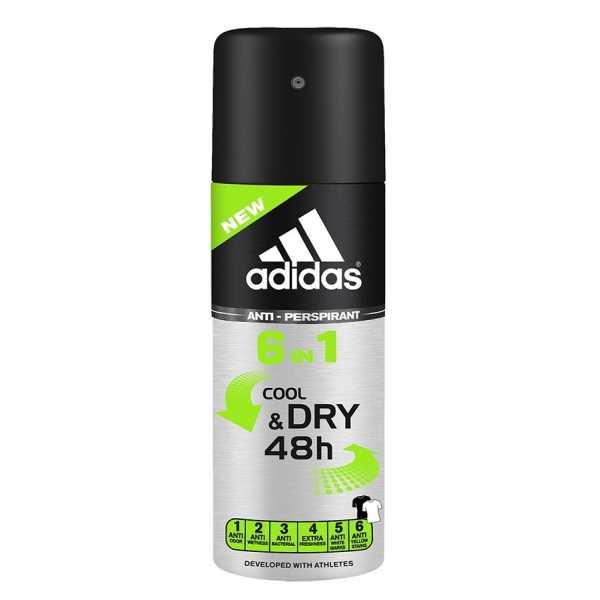 Антиперспирант Adidas Cool & Dry 6в1 для мужчин спрей, 150 мл
