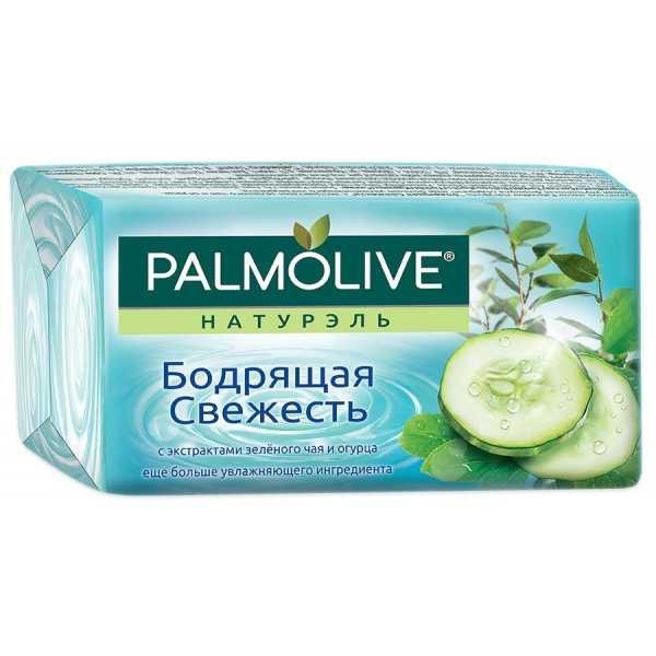 """Мыло туалетное Palmolive Натурэль """"Бодрящая свежесть"""" с экстрактами зеленого чая и огурца, 90 гр"""