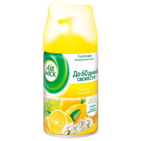 """Освежитель воздуха Airwick """"Лимон и Женьшень"""", сменный блок, 250 мл"""