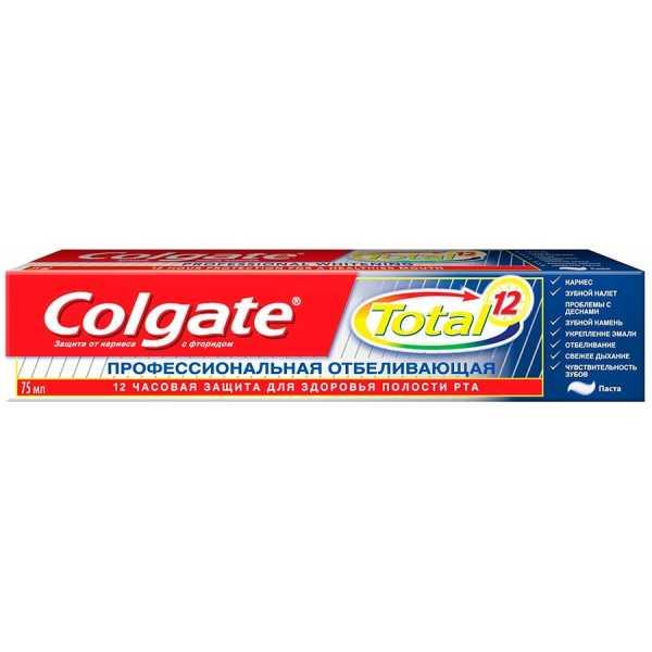 """Зубная паста Colgate Total 12 """"Профессиональная отбеливающая"""", 75 мл"""