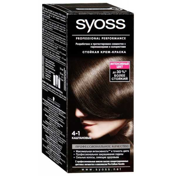 "Краска для волос Syoss Color 4-1 ""Каштановый"", 115 мл"