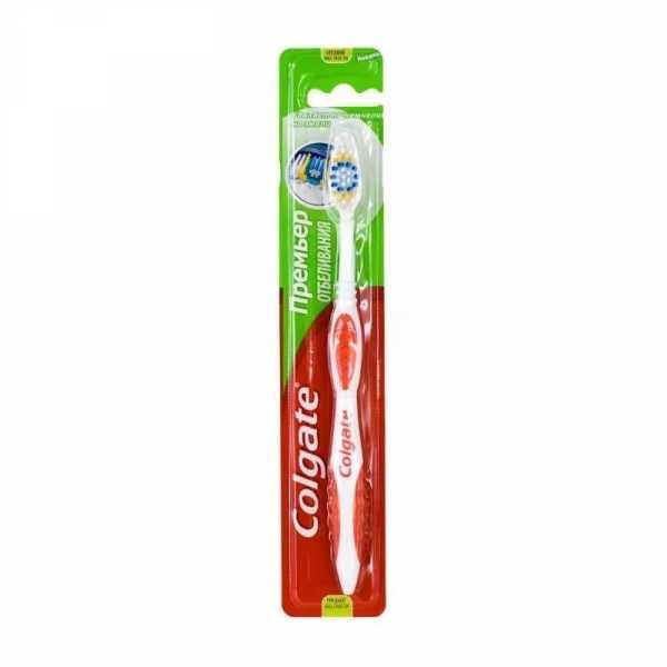 """Зубная щетка Colgate """"Премьер отбеливания"""", средней жесткости"""