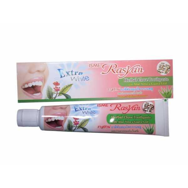 Травяная зубная паста RasYan с гвоздикой, алоэ вера и листьями гуавы 30г